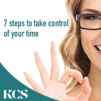 7 steps to take control of your time